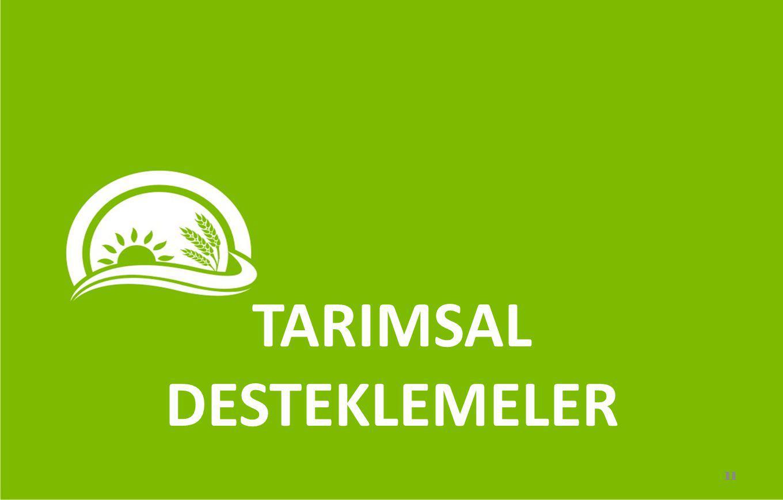 TARIMSAL DESTEKLEMELER 11