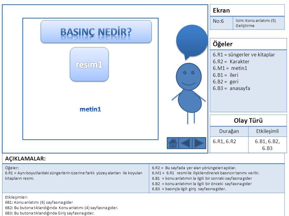 Ekran No:7 İsim: Uygulama(1) Öğeler 7.M1 = başlık 7.R1 = Karakter 7.B1 = uygulama1 7.B2 = uygulama2 7.B3 = uygulama3 Olay Türü DurağanEtkileşimli 7.R17.B1, 7.B2, 7.B3 AÇIKLAMALAR: Öğeler: 7.M1 = Uygulama başlığı 7.B1 = birinci uygulamayı ifade eder.