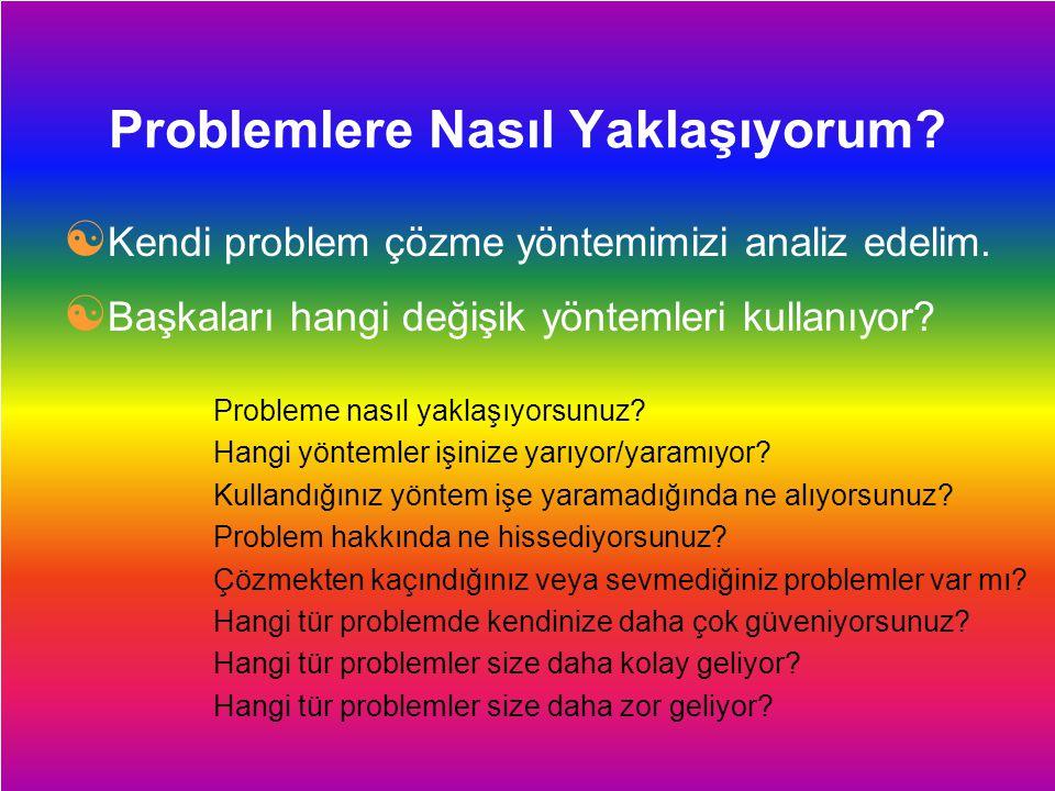 Dersimiz.Com Problemlere Nasıl Yaklaşıyorum?  Kendi problem çözme yöntemimizi analiz edelim.  Başkaları hangi değişik yöntemleri kullanıyor? Problem