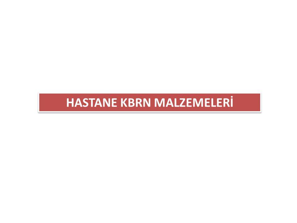 HASTANE KBRN MALZEMELERİ