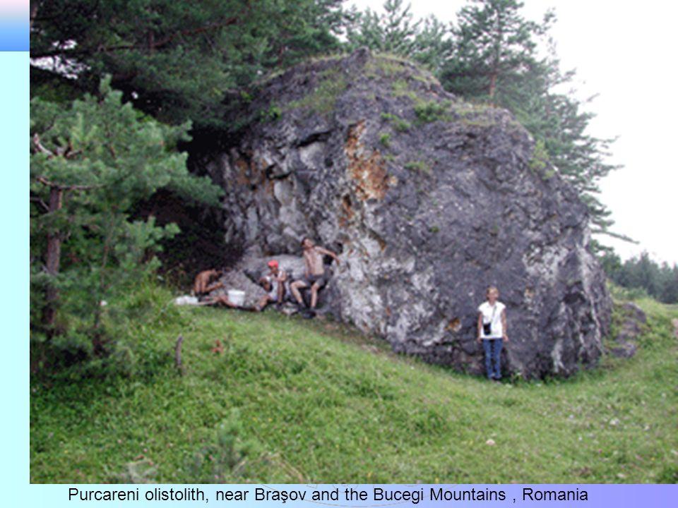Purcareni olistolith, near Braşov and the Bucegi Mountains, Romania