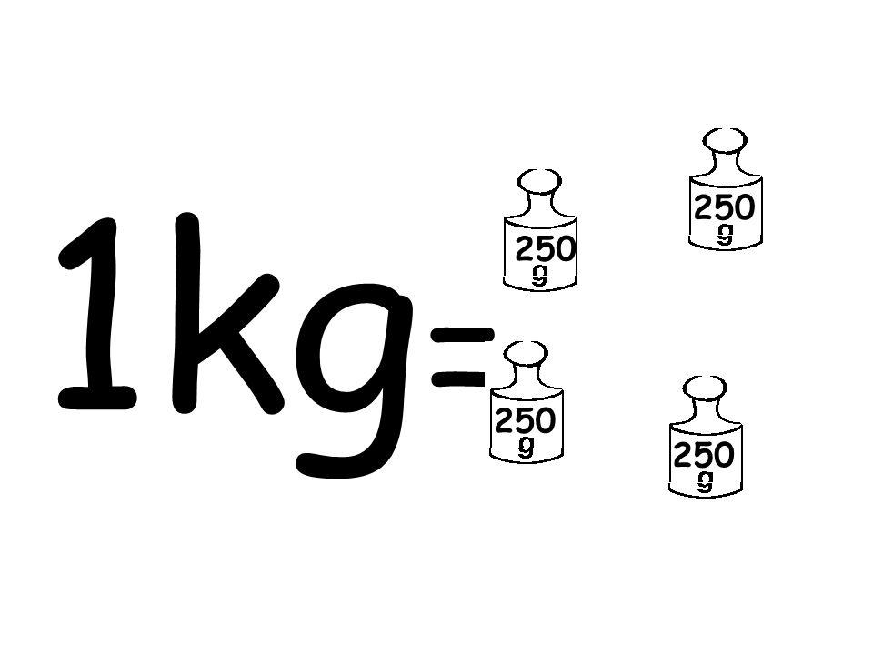 1 kilogramın içinde 4 tane 250 gram vardır.