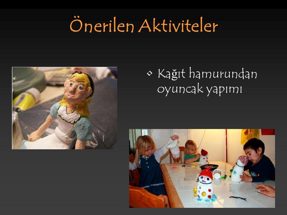 Önerilen Aktiviteler Ka ğ ıt hamurundan oyuncak yapımı
