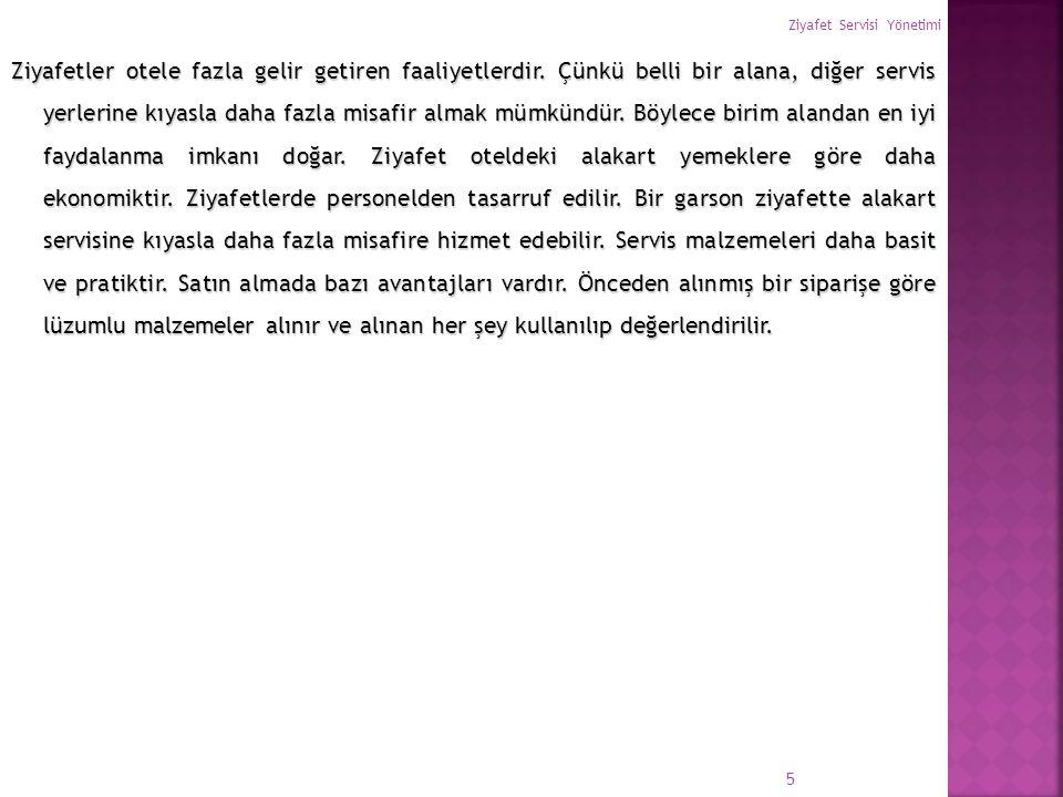 Ziyafet Servisi Yönetimi 86 Türkiye'de Kullanılan Kısaltmalar L.C.V.