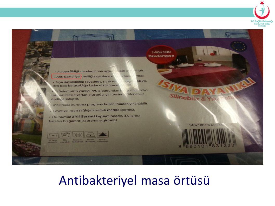 Antibakteriyel masa örtüsü