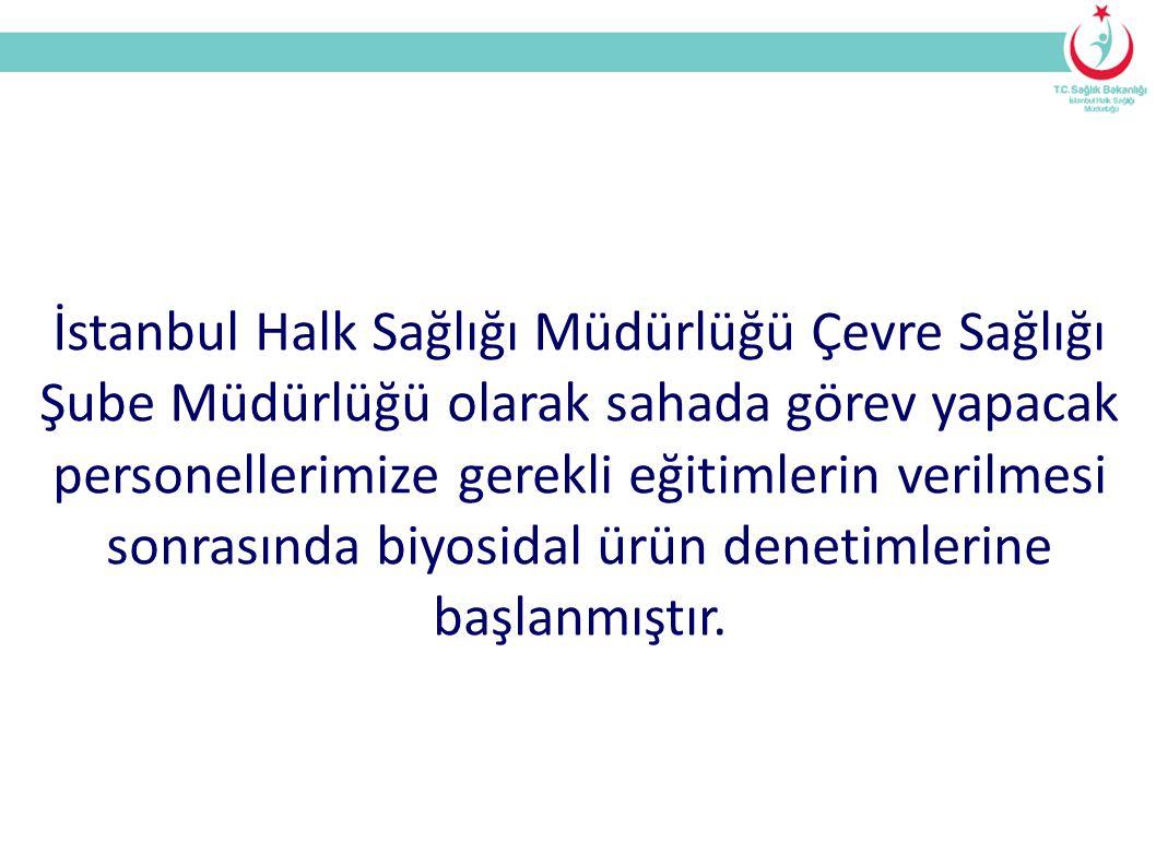 İstanbul Halk Sağlığı Müdürlüğü Çevre Sağlığı Şube Müdürlüğü olarak sahada görev yapacak personellerimize gerekli eğitimlerin verilmesi sonrasında biyosidal ürün denetimlerine başlanmıştır.