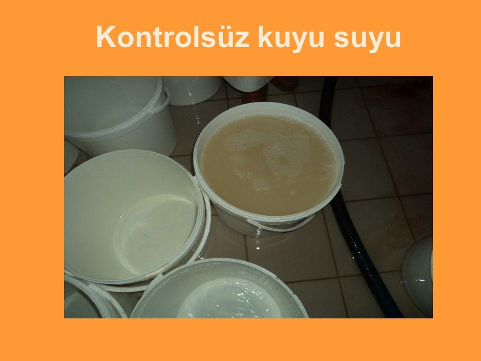 Kontrolsüz kuyu suyu