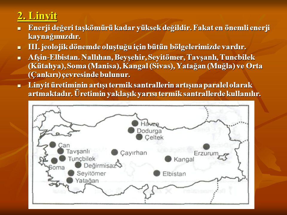 TÜRKİYE'DE ENERJİ KAYNAKLARI 1. Taşkömürü I. jeolojik zamanda oluşmuş arazilerde görüldüğü için ülkemizde sadece Zonguldak-Ereğli ve Amasra çevresinde