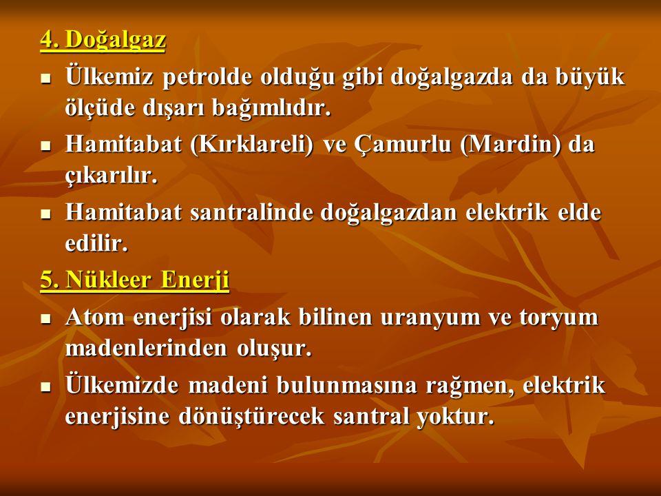 Petrol Rafineleri Batman'da- Batman Rafinesi Mersin'de -Ataş Rafinesi Kırıkkale'de -Orta Anadolu İzmir -Aliağa Rafinesi İzmit -Tüpraş Rafinesi Petrol