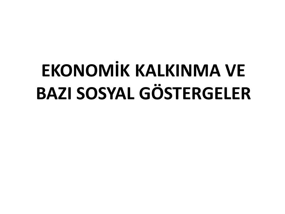EKONOMİK KALKINMA VE BAZI SOSYAL GÖSTERGELER