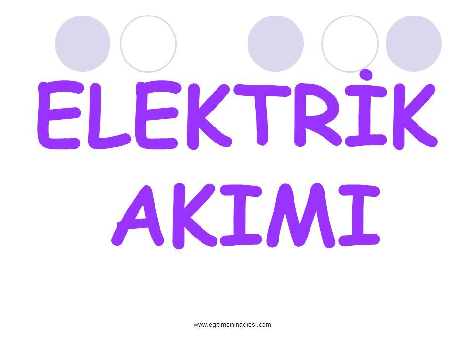 ELEKTRİK AKIMI www.egitimcininadresi.com