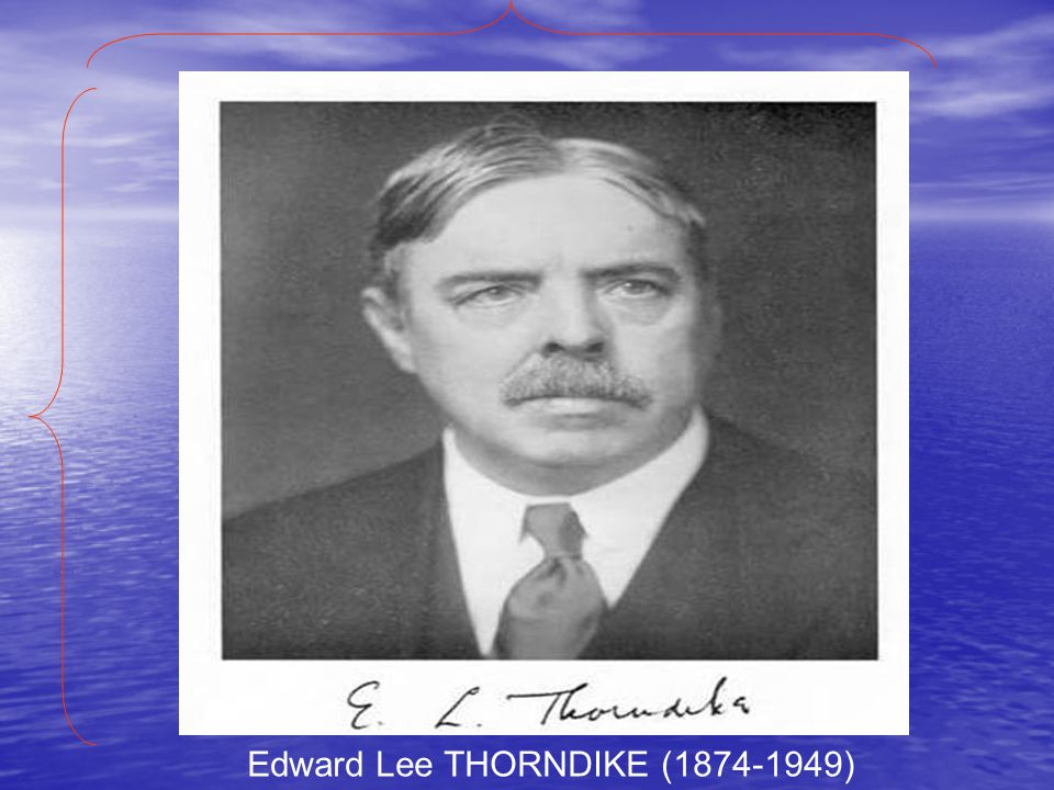 Edward Lee THORNDIKE (1874-1949)