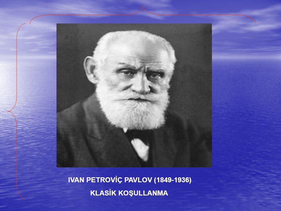 IVAN PETROVİÇ PAVLOV (1849-1936) KLASİK KOŞULLANMA
