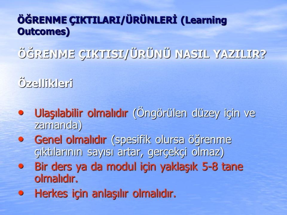 ÖĞRENME ÇIKTISI/ÜRÜNÜ NASIL YAZILIR.