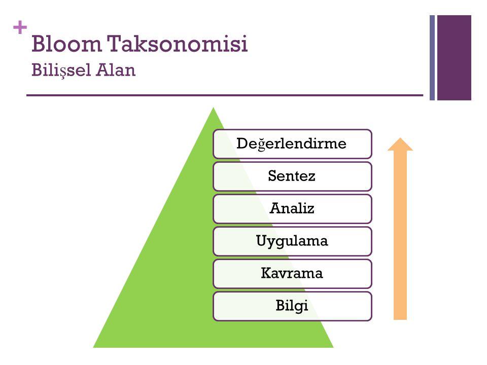 + Bloom Taksonomisi Psiko-motor Alan Gözlenecek Davranı ş EvetHayır 1- Engele geldi ğ inde do ğ ru pozisyon aldı mı.