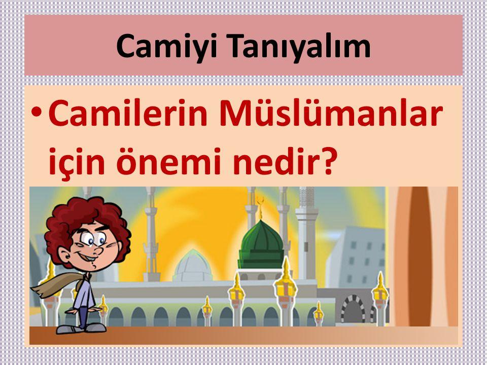 Camiyi Tanıyalım Camilerin Müslümanlar için önemi nedir?