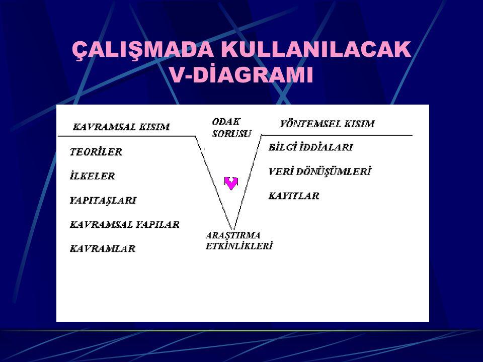 ÇALIŞMADA KULLANILACAK V-DİAGRAMI