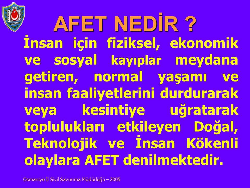 SİVİL SAVUNMANIN NİTELİKLERİ ; Sivil Savunma; a) Silahsız, b) Koruyucu, c) Kurtarıcı, Önlem ve faaliyetleri içeren bir savunmadır. Osmaniye İl Sivil S