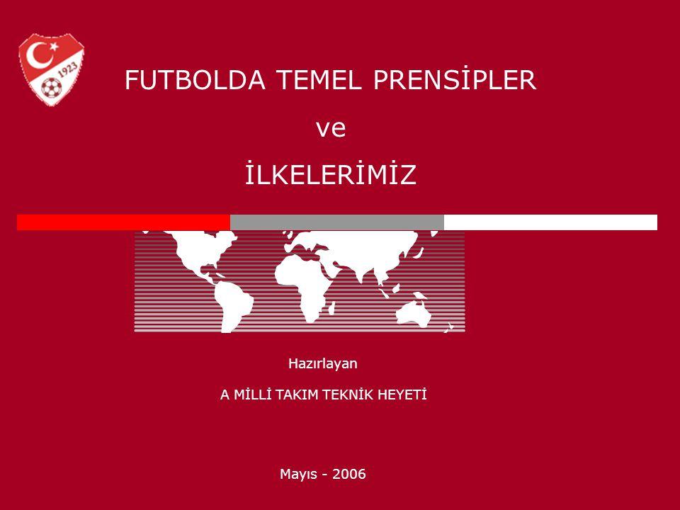 FUTBOLDA TEMEL PRENSİPLER ve İLKELERİMİZ Hazırlayan A MİLLİ TAKIM TEKNİK HEYETİ Mayıs - 2006