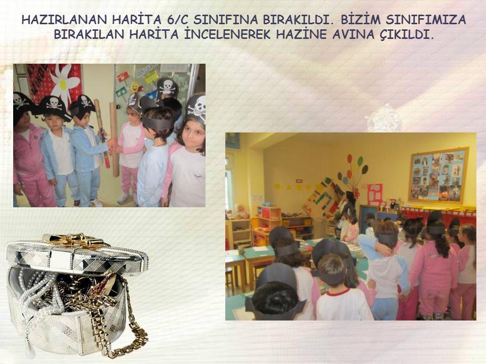 HAZIRLANAN HARİTA 6/C SINIFINA BIRAKILDI.