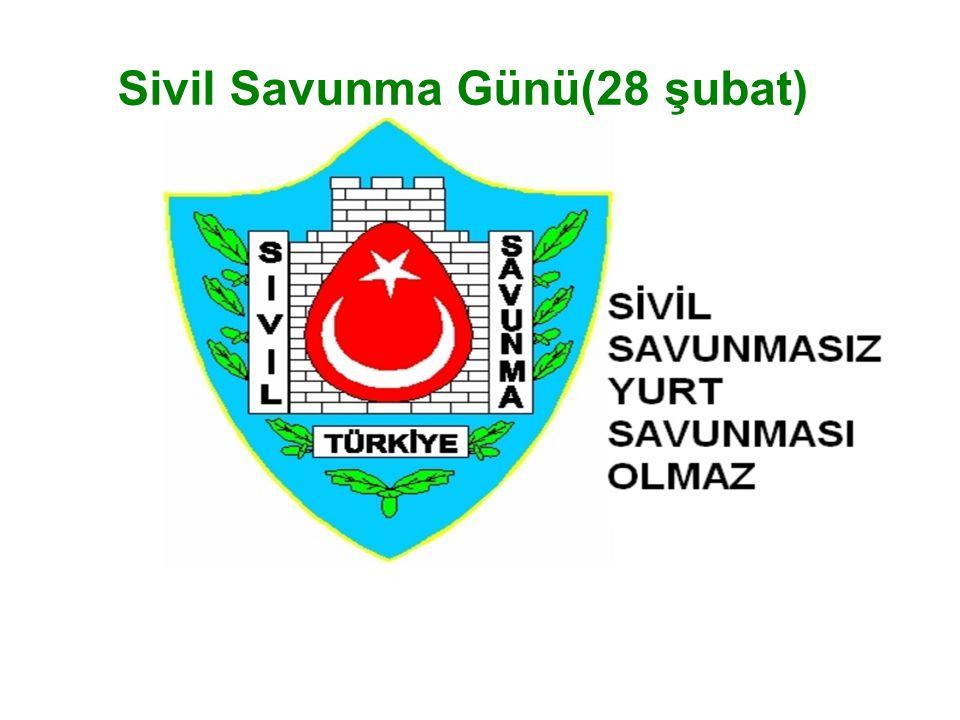 Sivil Savunma Günü(28 şubat)