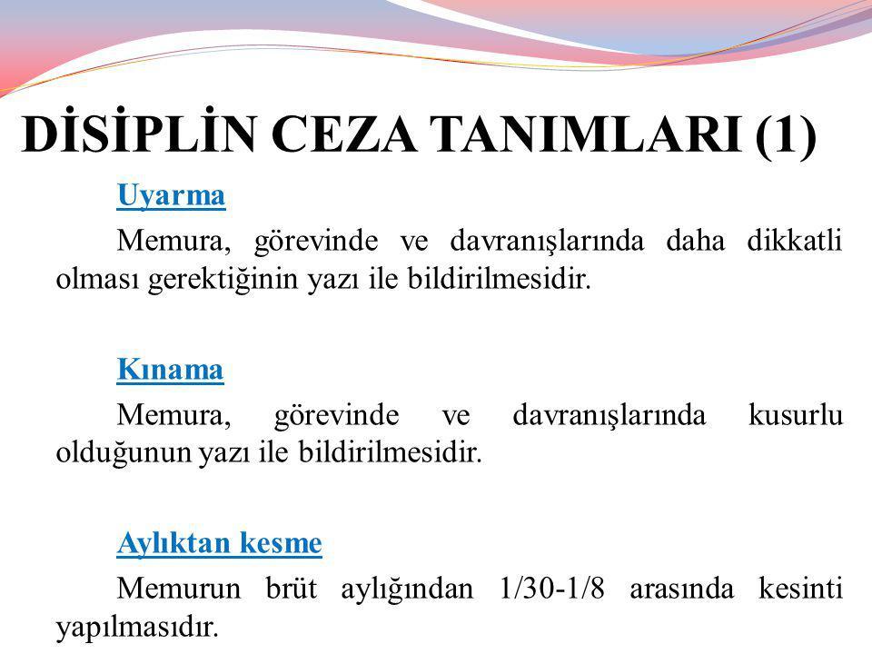 DİSİPLİN AMİRİ TAKDİR HAKLARI Disiplin Amirlerinin üç çeşit takdir hakkı bulunmaktadır.