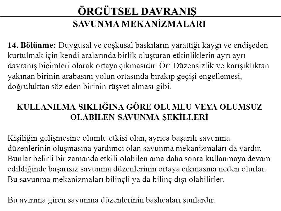 SAVUNMA MEKANİZMALARI 12.