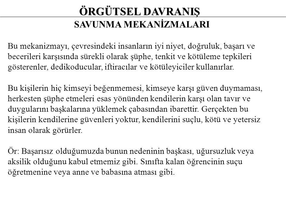 SAVUNMA MEKANİZMALARI 1.