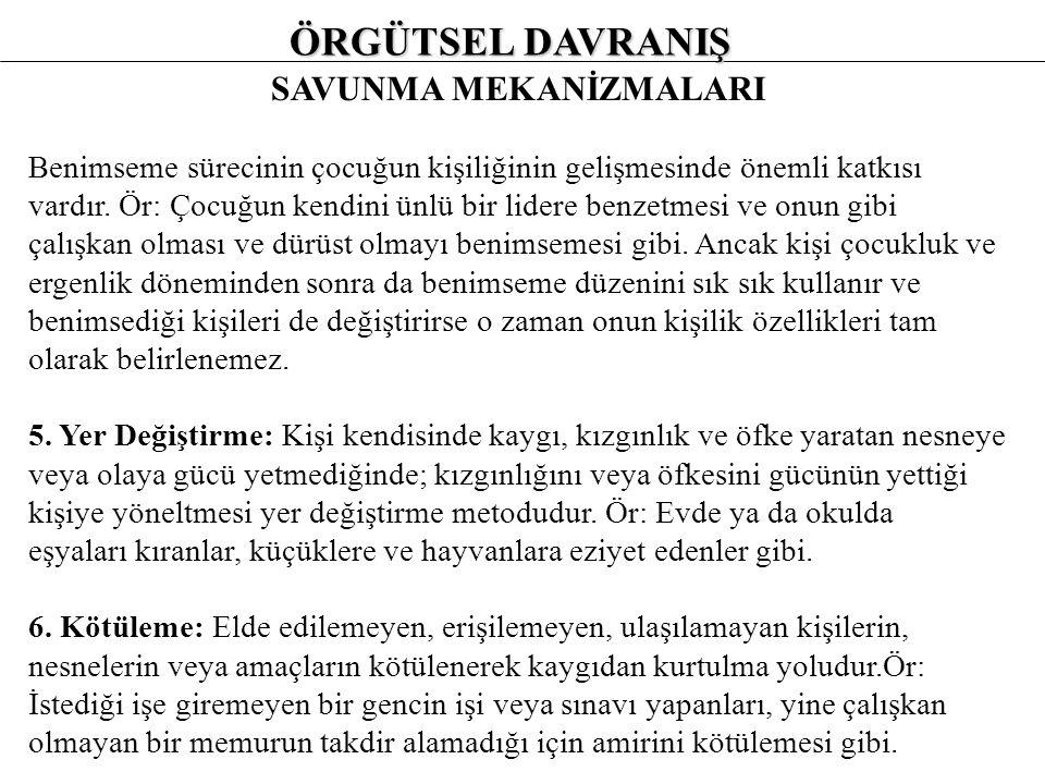 SAVUNMA MEKANİZMALARI 3.