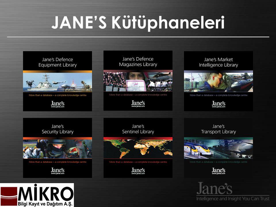 JANE'S Kütüphaneleri