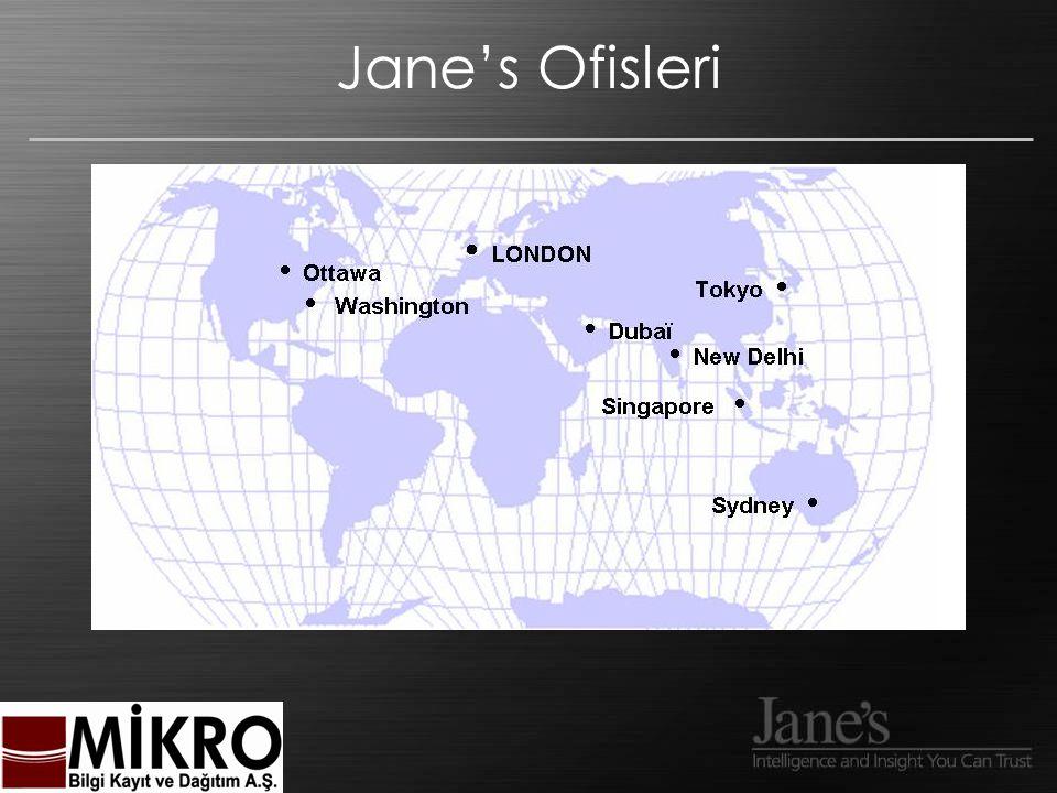 Jane's On-line 24/7 Ağ üzerinden Erişim Günlük güncelleme.