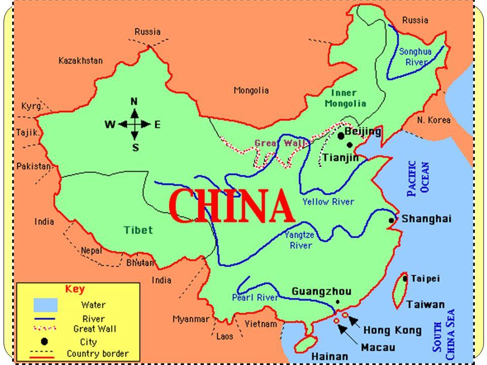 Çin'deki nehirlerin uzunluğu 220.000 km olup, hidroelektrik enerji potansiyeli açısından dünyada lider konumdadır. Nehirler dış ve iç nehirler olarak