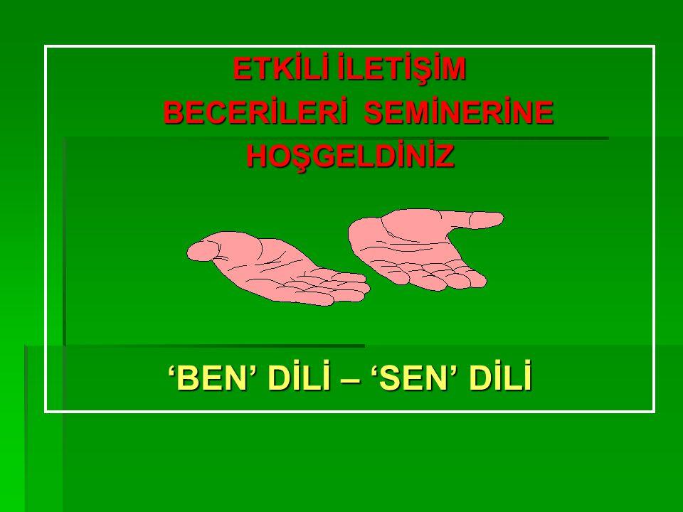 İLETİŞİMİ ENGELLEYEN FAKTÖRLER 3.SORU SORMAK, ARAŞTIRMAK, İNCELEMEK 3.