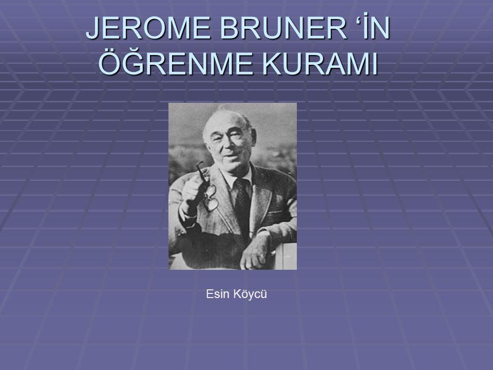 JEROME BRUNER 'İN ÖĞRENME KURAMI Esin Köycü