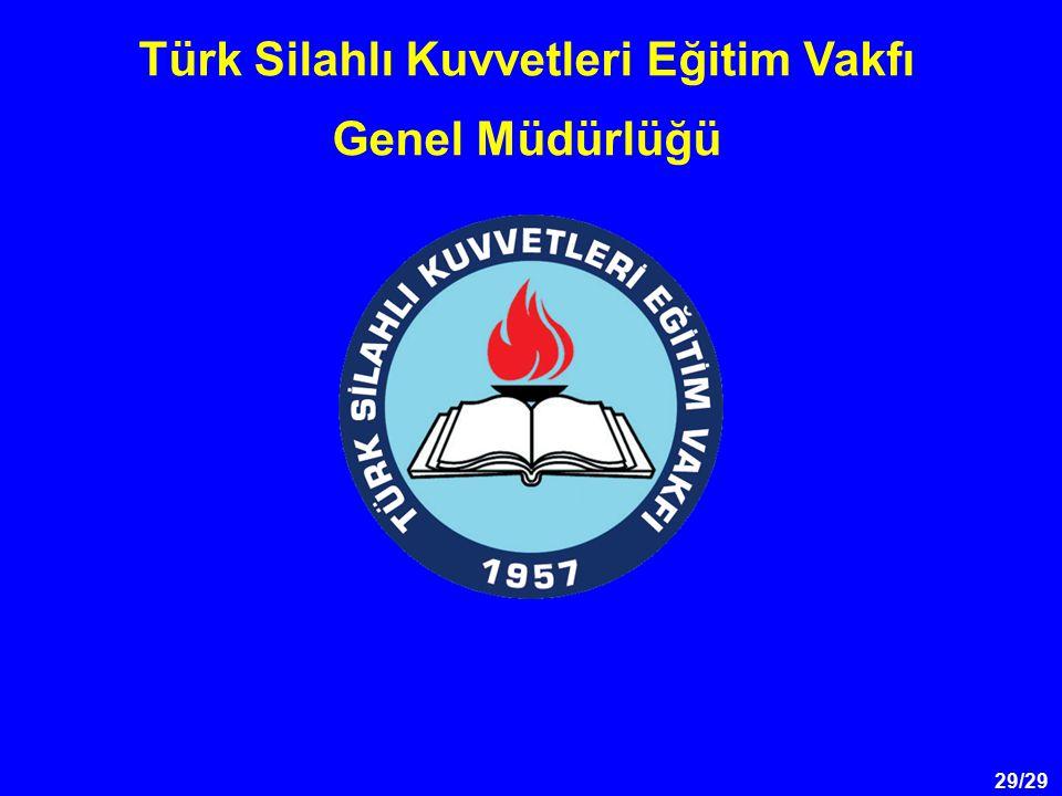 29/29 Türk Silahlı Kuvvetleri Eğitim Vakfı Genel Müdürlüğü