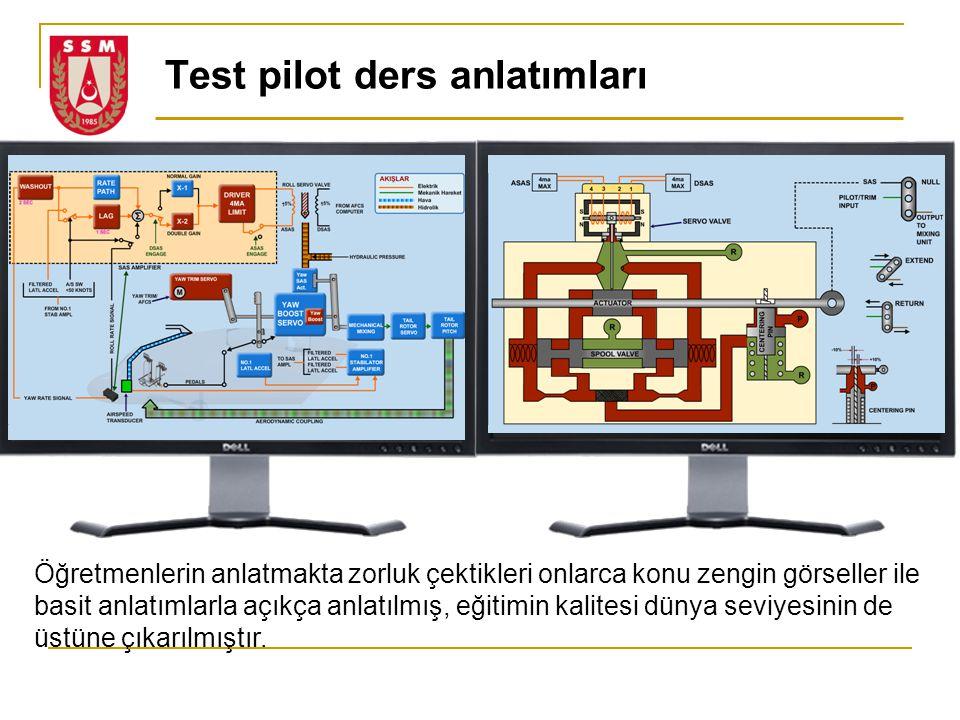 Test pilot ders anlatımları Öğretmenlerin anlatmakta zorluk çektikleri onlarca konu zengin görseller ile basit anlatımlarla açıkça anlatılmış, eğitimi