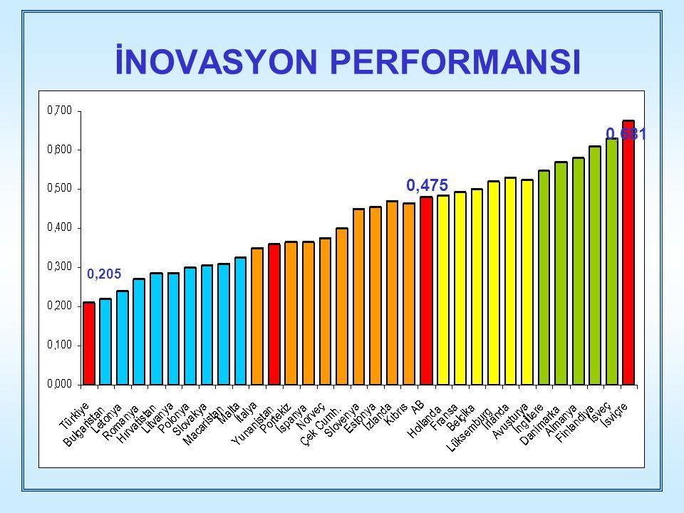 İNOVASYON PERFORMANSI 0,475 0,681 0,205 0,475 0,681