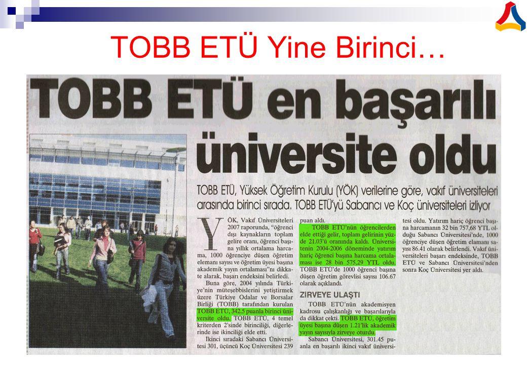  TOBB ETÜ iş dünyasının ihtiyacı olan nitelikli insan gücünün yetiştirilmesi ve üniversite-sanayi işbirliğinin geliştirilmesi amacı ile Ortak Eğitim Modelini Türkiye'de uygulamaya koyan ilk ve tek üniversitedir.