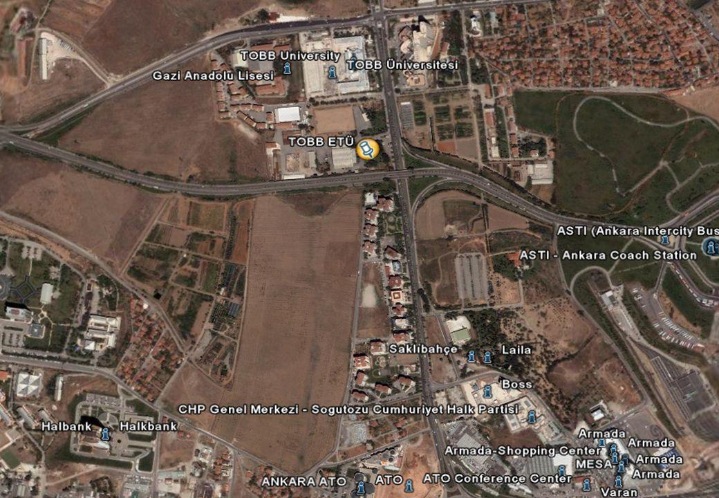 8 YERLEŞKE Ankara Söğütözü bulunan 63.277 m 2 kapalı alana ve 4000 öğrenci kapasitesine sahip yerleşkemiz: Olimpik yüzme havuzu Spor kompleksi Sosyal tesislerinden oluşmaktadır.