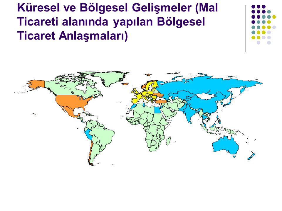 Küresel ve Bölgesel Gelişmeler (Mal Ticareti alanında yapılan Bölgesel Ticaret Anlaşmaları)
