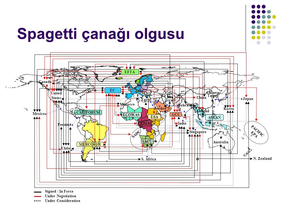 Hizmetler Ticareti alanında yapılan Bölgesel Ticaret Anlaşmaları