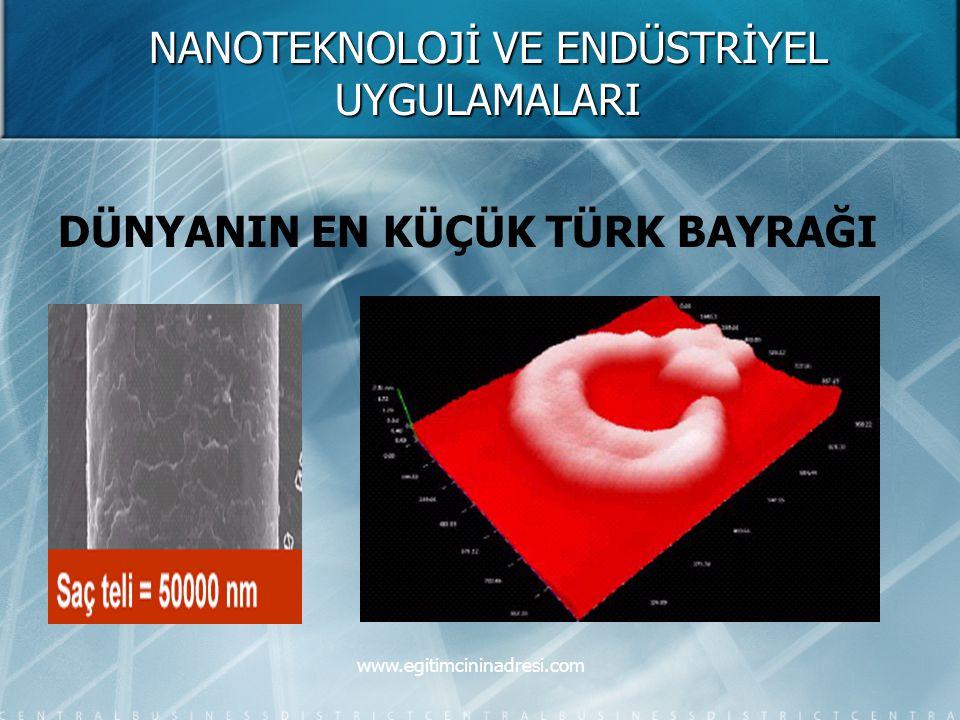 NANOTEKNOLOJİ VE ENDÜSTRİYEL UYGULAMALARI DÜNYANIN EN KÜÇÜK TÜRK BAYRAĞI www.egitimcininadresi.com