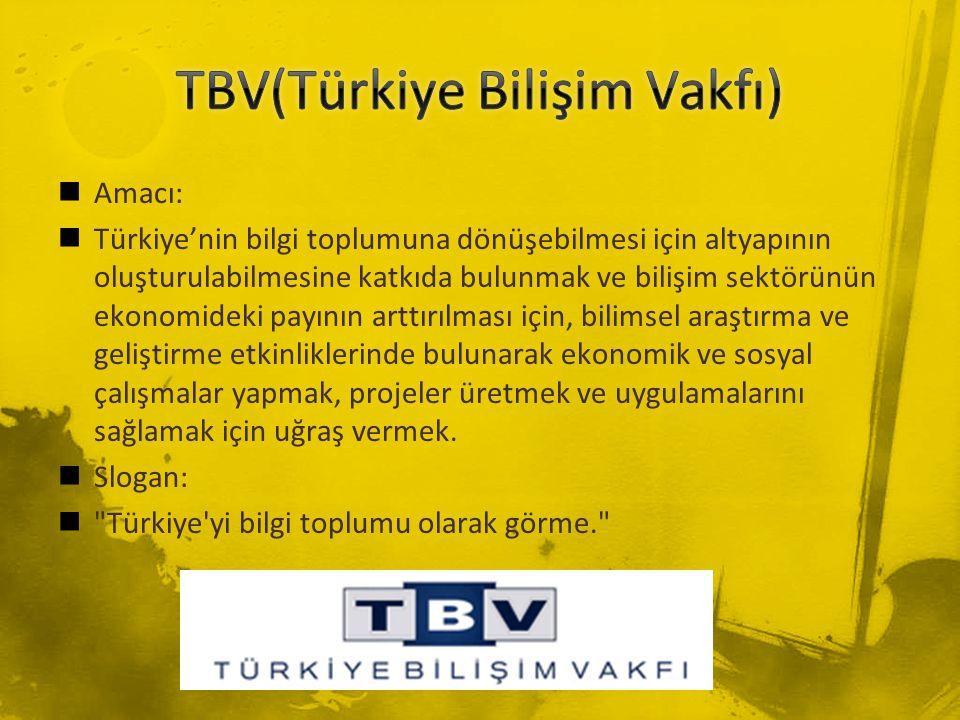 Amacı: Türkiye'nin bilgi toplumuna dönüşebilmesi için altyapının oluşturulabilmesine katkıda bulunmak ve bilişim sektörünün ekonomideki payının arttır