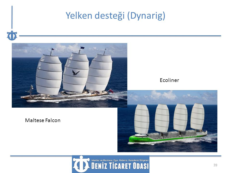 Yelken desteği (Dynarig) 39 Maltese Falcon Ecoliner