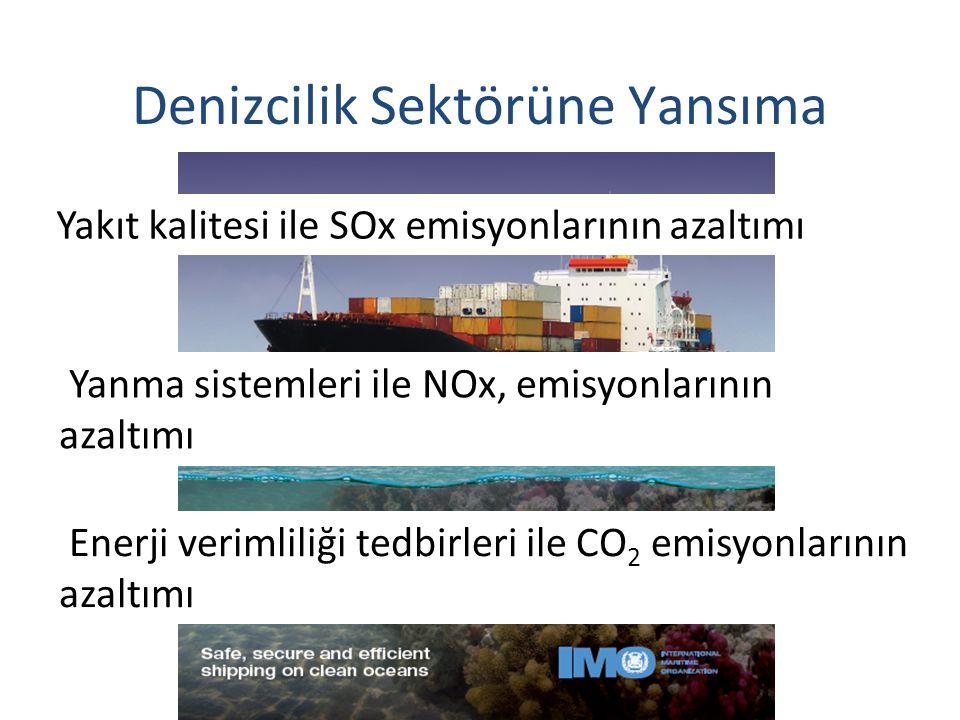 Uluslararası denizcilik sektöründe çalışmalar Yakıt kalitesi ile SOx emisyonlarının azaltımı Yanma sistemleri ile NOx, emisyonlarının azaltımı Enerji