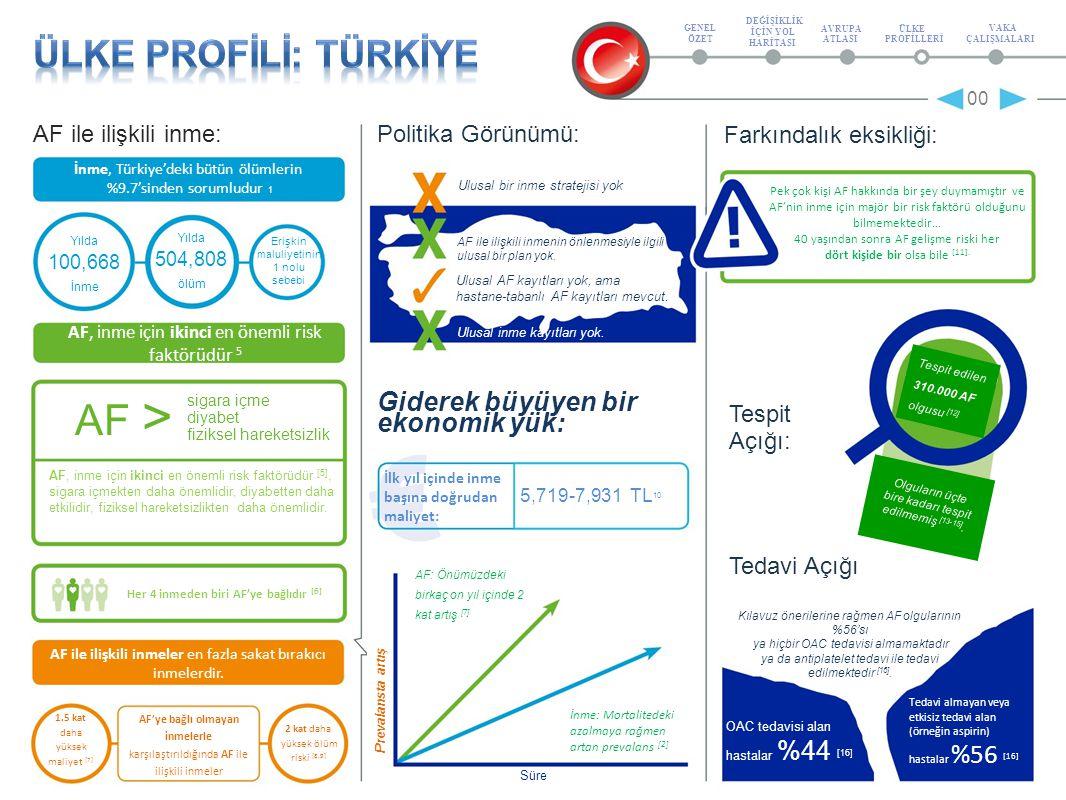 SSSSsSSSSs AF ile ilişkili inme: Politika Görünümü: İnme, Türkiye'deki bütün ölümlerin %9.7'sinden sorumludur 1 00 Farkındalık eksikliği: Pek çok kişi AF hakkında bir şey duymamıştır ve AF'nin inme için majör bir risk faktörü olduğunu bilmemektedir… 40 yaşından sonra AF gelişme riski her dört kişide bir olsa bile [11].