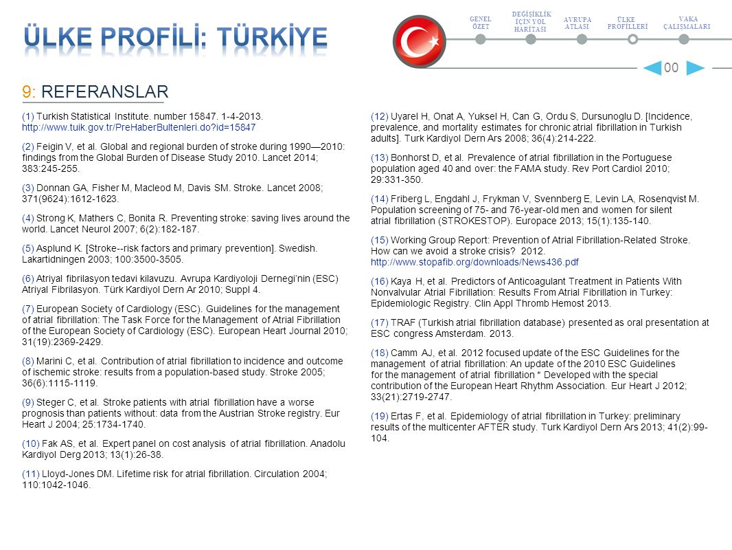 9: REFERANSLAR (1) Turkish Statistical Institute. number 15847.