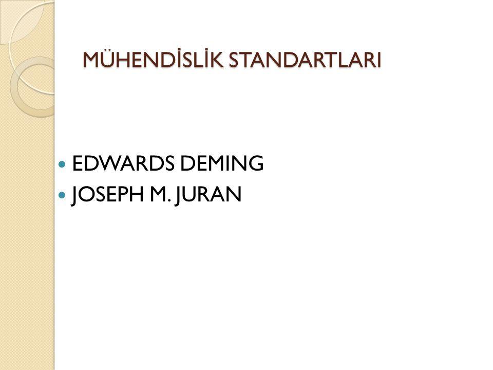 MÜHEND İ SL İ K STANDARTLARI EDWARDS DEMING JOSEPH M. JURAN