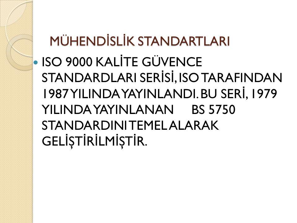 ISO 9000 KAL İ TE GÜVENCE STANDARDLARI SER İ S İ, ISO TARAFINDAN 1987 YILINDA YAYINLANDI. BU SER İ, 1979 YILINDA YAYINLANAN BS 5750 STANDARDINI TEMEL