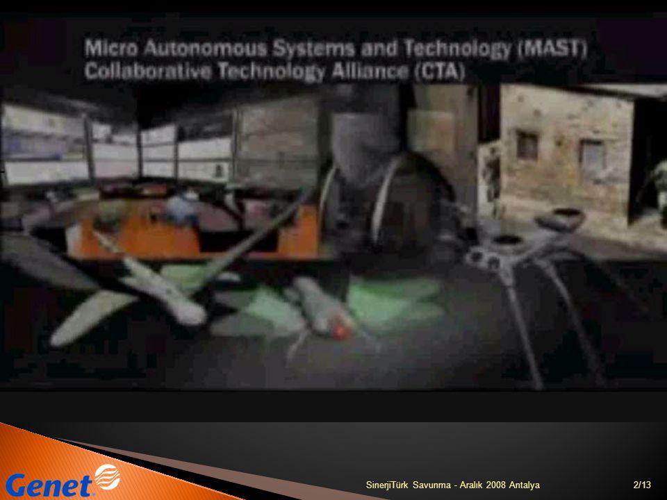 13/13SinerjiTürk Savunma - Aralık 2008 Antalya teşekkürler GENETLAB Bilgi Teknolojileri A.Ş.
